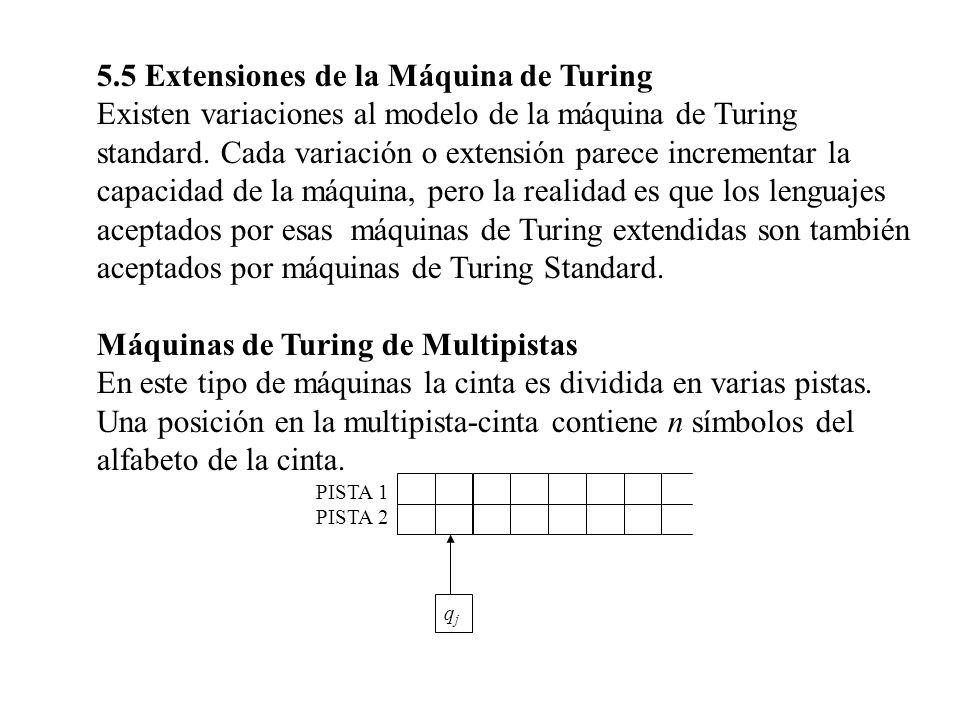 5.5 Extensiones de la Máquina de Turing