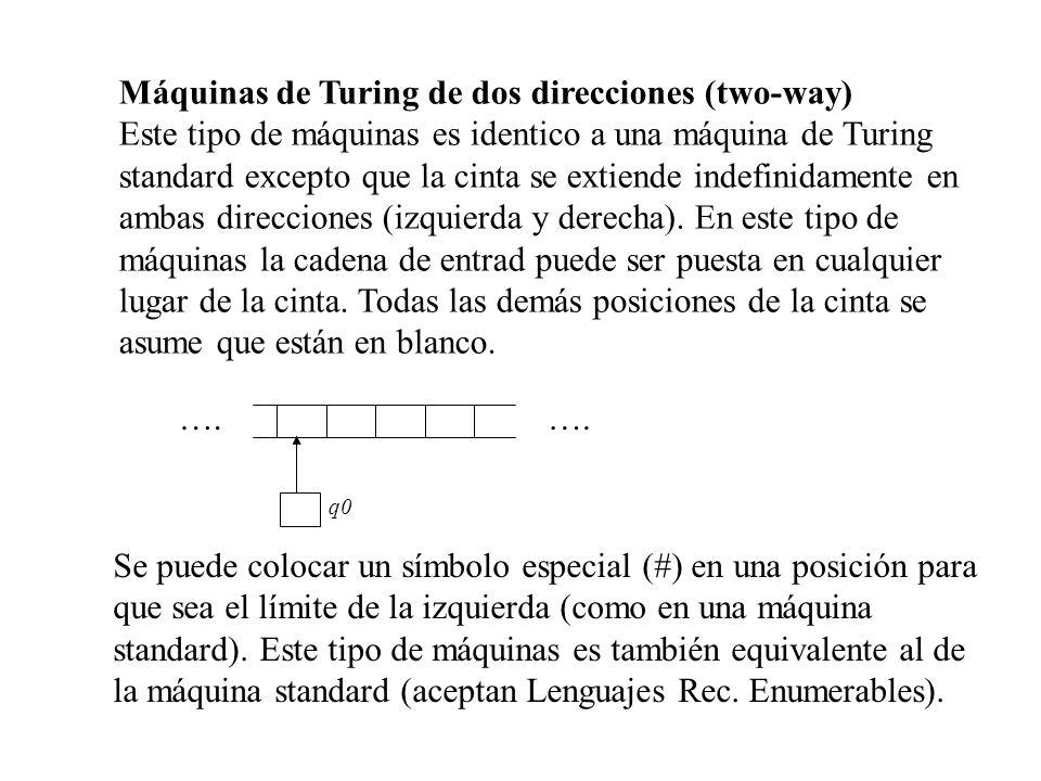 Máquinas de Turing de dos direcciones (two-way)
