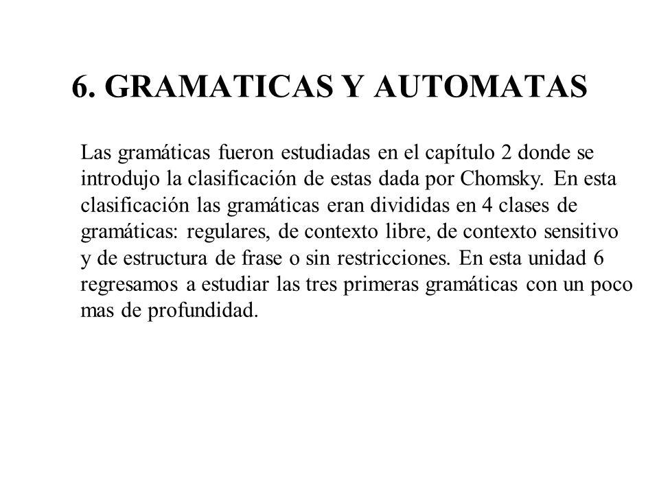 6. GRAMATICAS Y AUTOMATAS