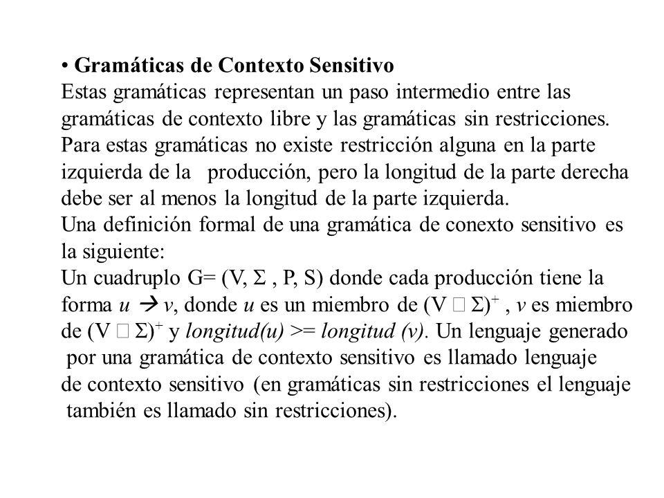 Gramáticas de Contexto Sensitivo