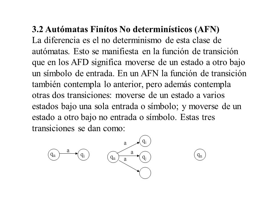 3.2 Autómatas Finítos No determinísticos (AFN)