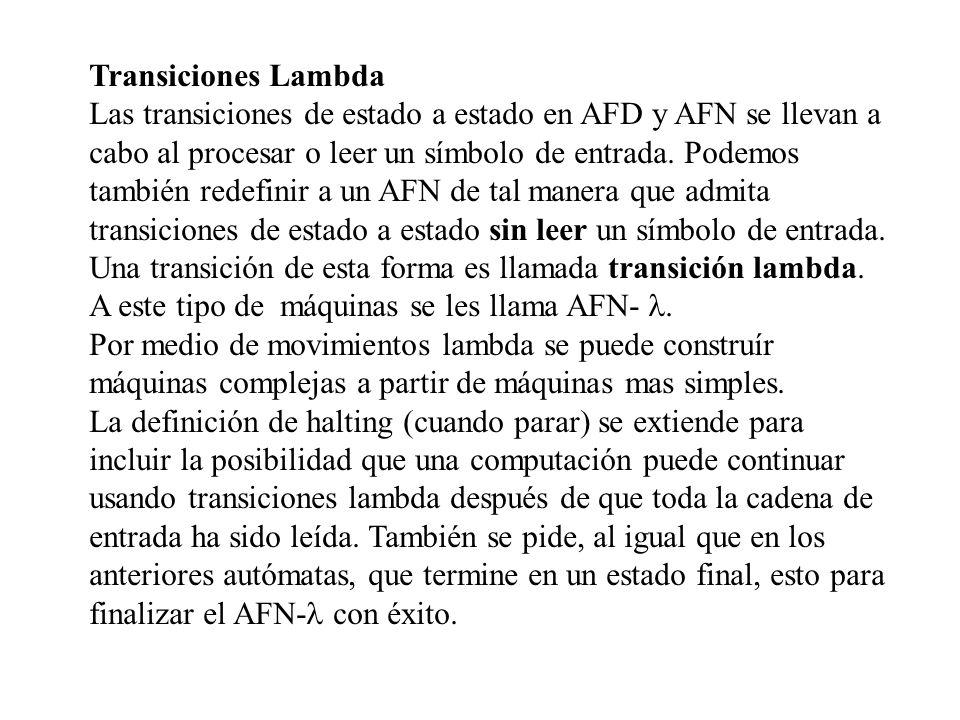 Transiciones Lambda