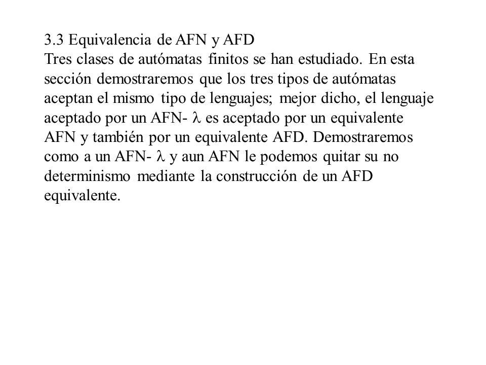 3.3 Equivalencia de AFN y AFD