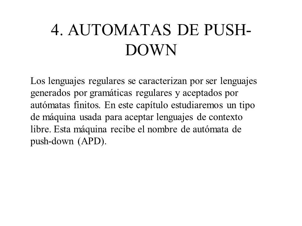 4. AUTOMATAS DE PUSH-DOWN