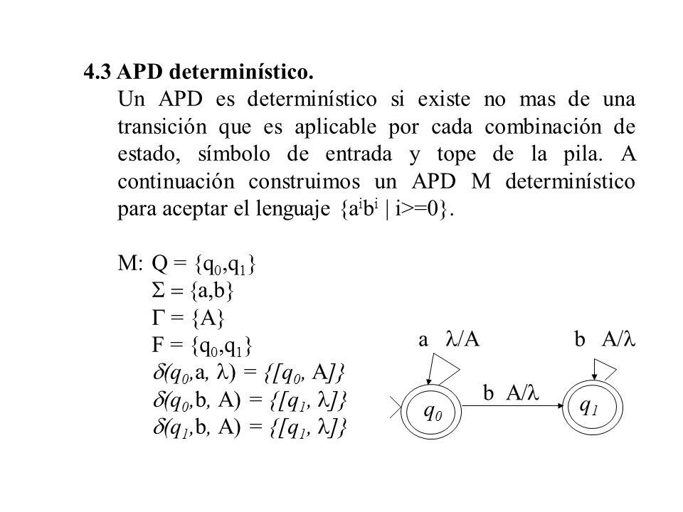 4.3 APD determinístico.