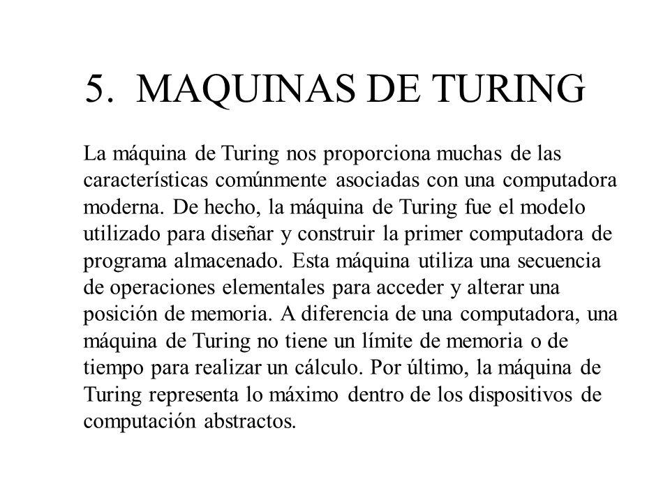 5. MAQUINAS DE TURING