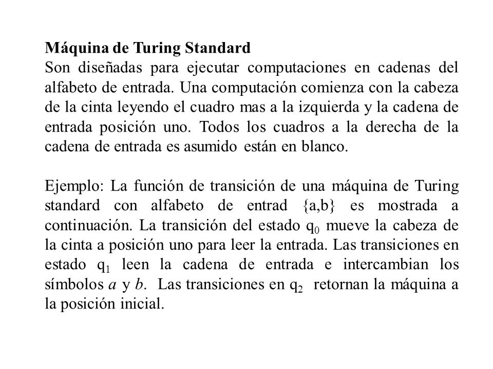 Máquina de Turing Standard