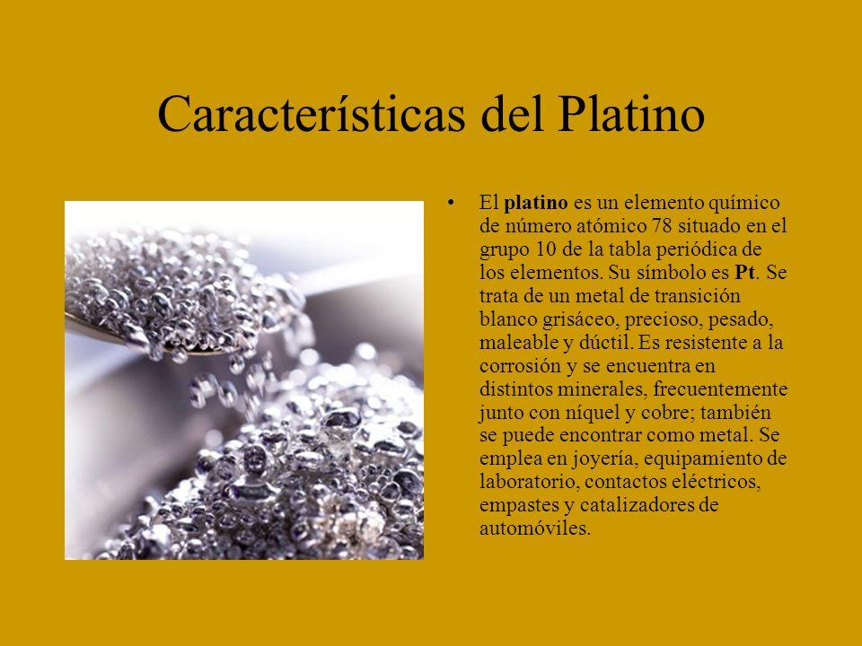 Características del Platino