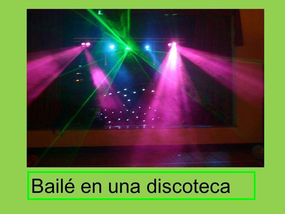 Bailé en una discoteca