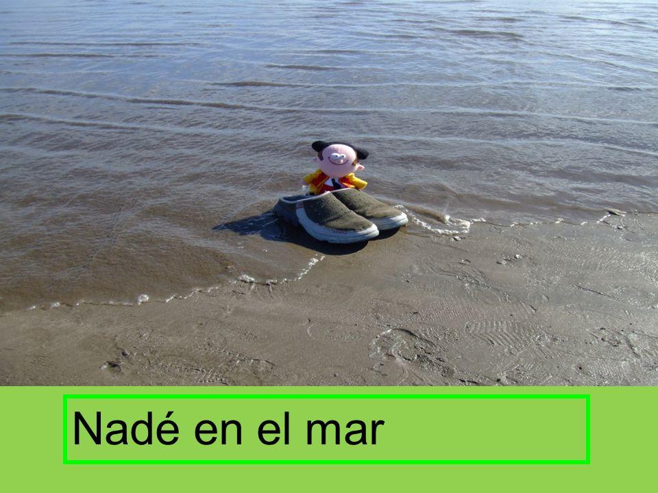 Nadé en el mar