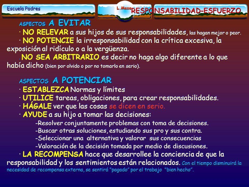 RESPONSABILIDAD-ESFUERZO