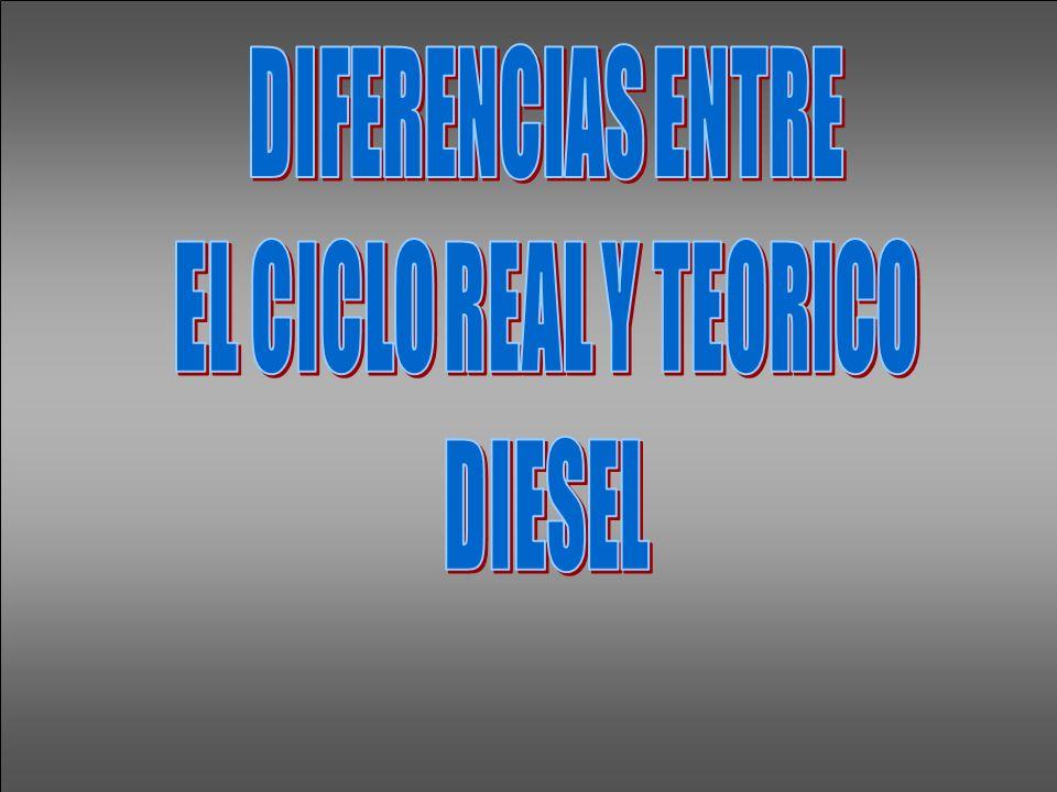 DIFERENCIAS ENTRE EL CICLO REAL Y TEORICO DIESEL
