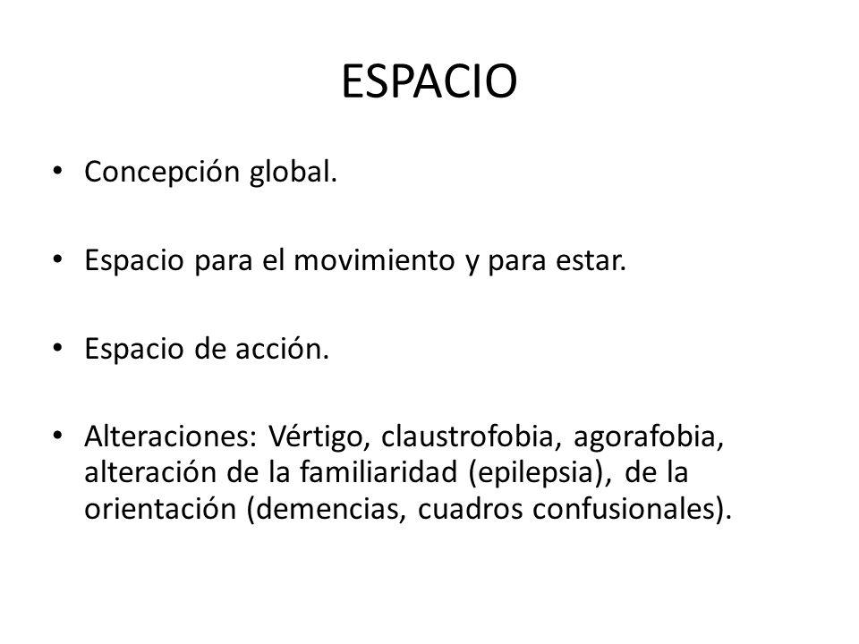 ESPACIO Concepción global. Espacio para el movimiento y para estar.