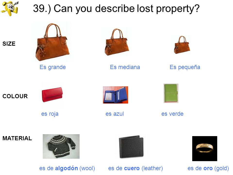 39.) Can you describe lost property