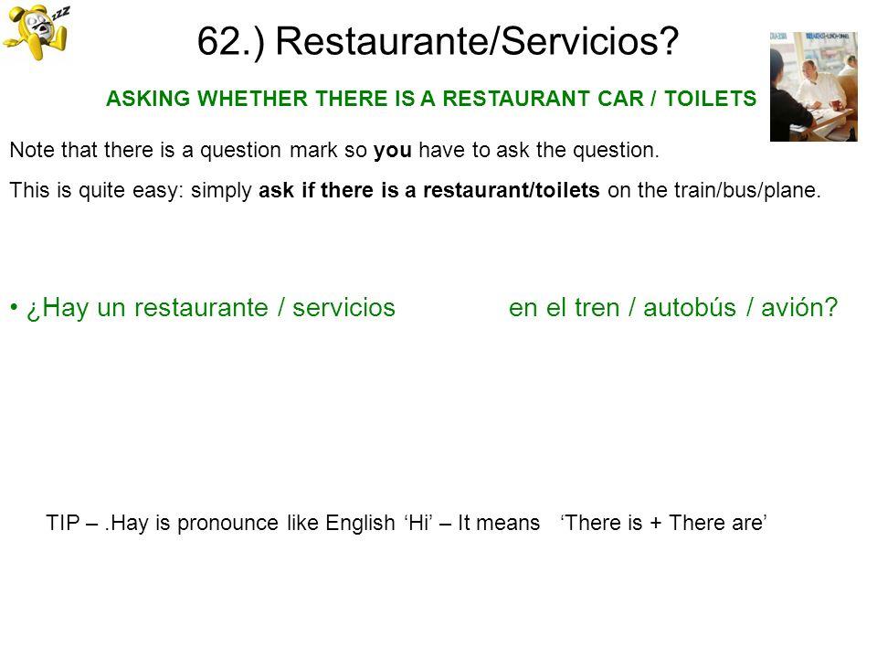 62.) Restaurante/Servicios