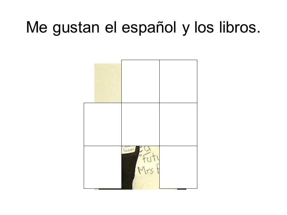 Me gustan el español y los libros.
