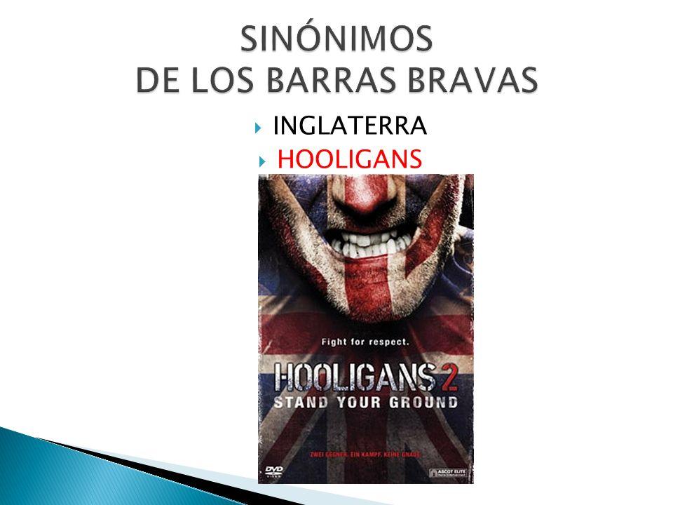 SINÓNIMOS DE LOS BARRAS BRAVAS
