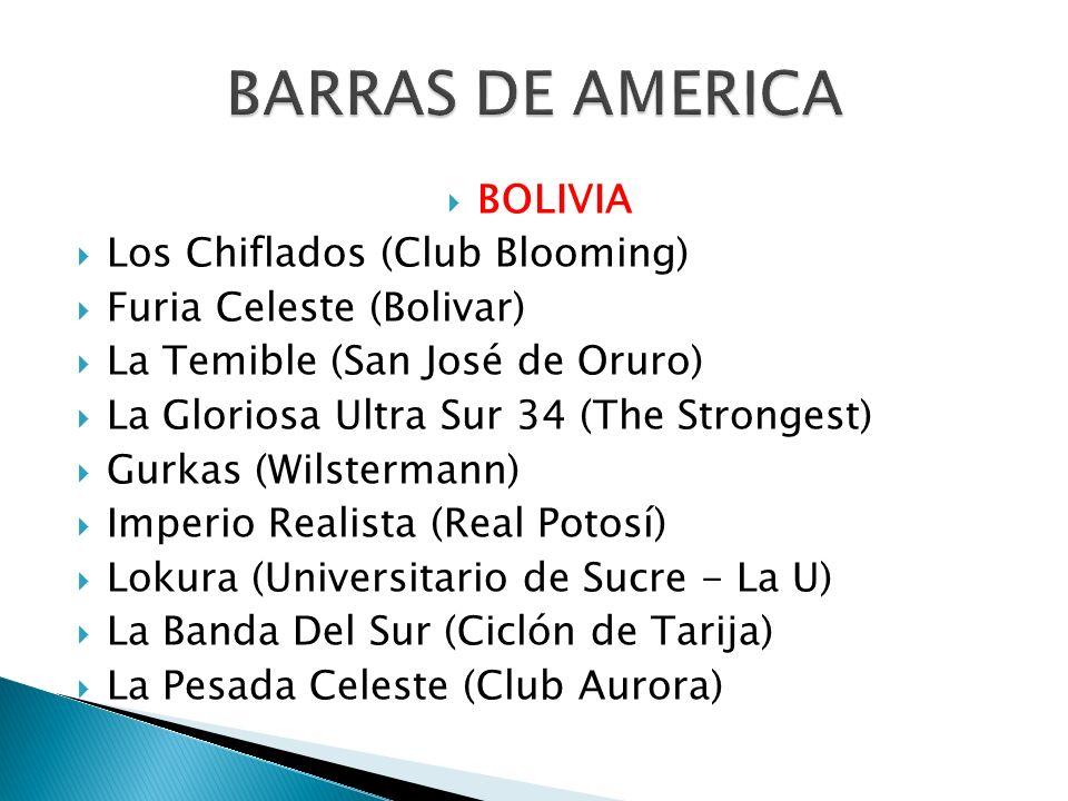 BARRAS DE AMERICA BOLIVIA Los Chiflados (Club Blooming)