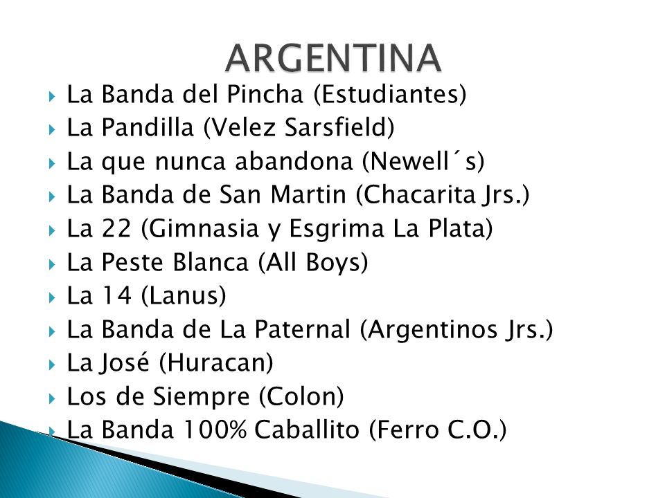 ARGENTINA La Banda del Pincha (Estudiantes)