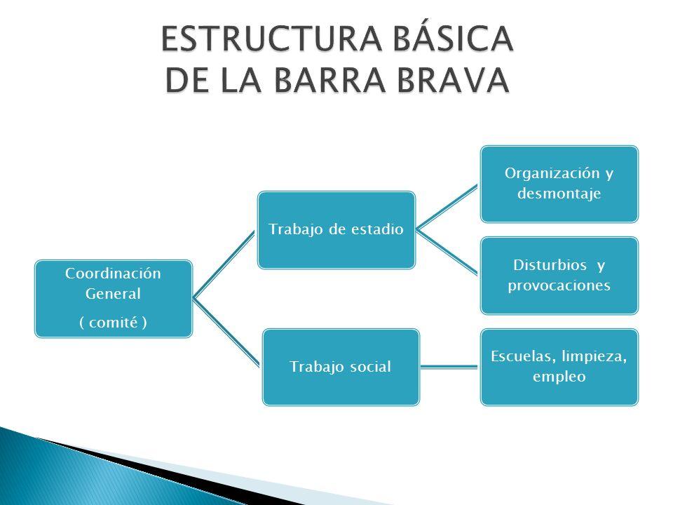 ESTRUCTURA BÁSICA DE LA BARRA BRAVA