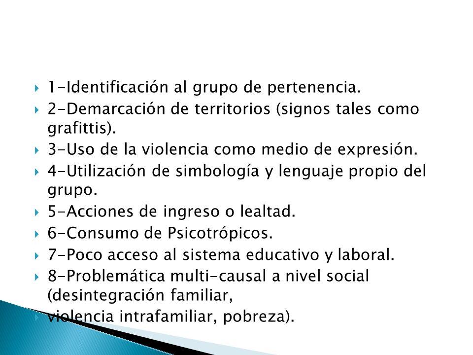 1-Identificación al grupo de pertenencia.
