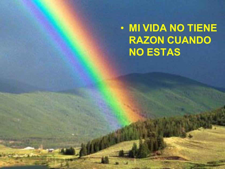 MI VIDA NO TIENE RAZON CUANDO NO ESTAS