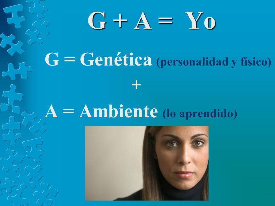G + A = Yo G = Genética (personalidad y físico)
