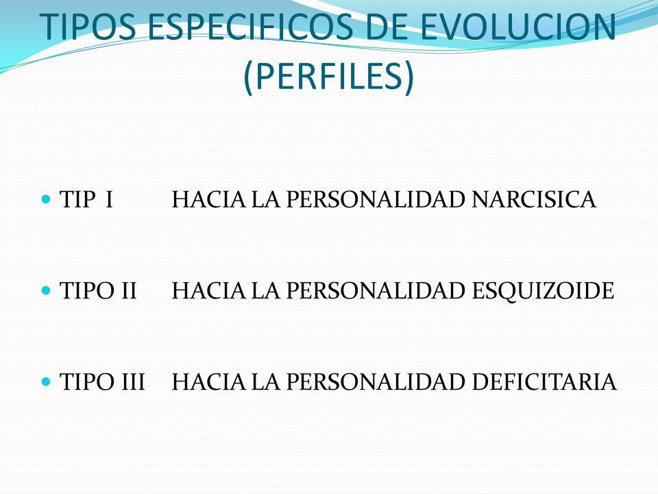 TIPOS ESPECIFICOS DE EVOLUCION (PERFILES)
