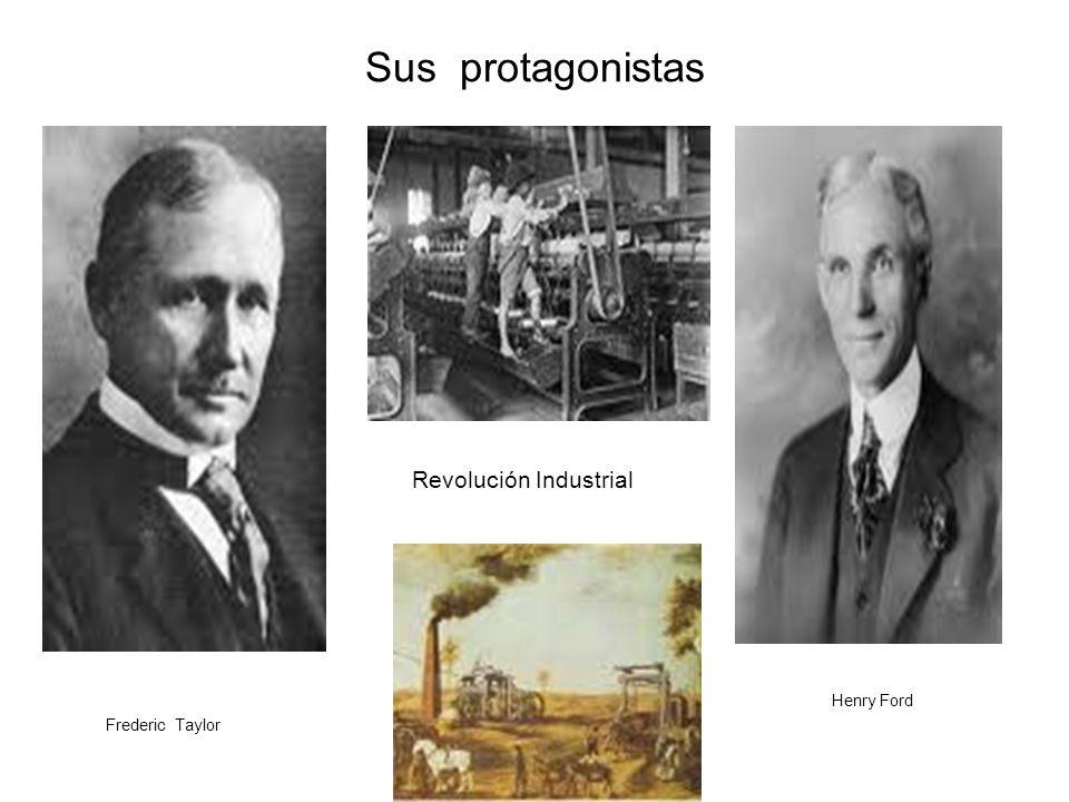 Sus protagonistas Revolución Industrial Henry Ford Frederic Taylor
