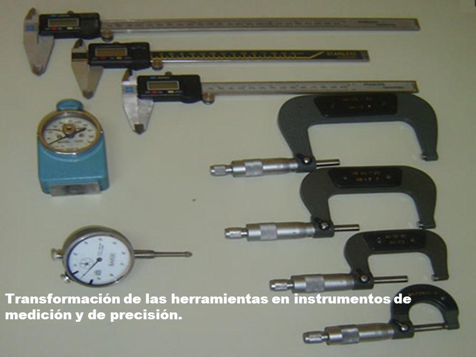 Transformación de las herramientas en instrumentos de medición y de precisión.