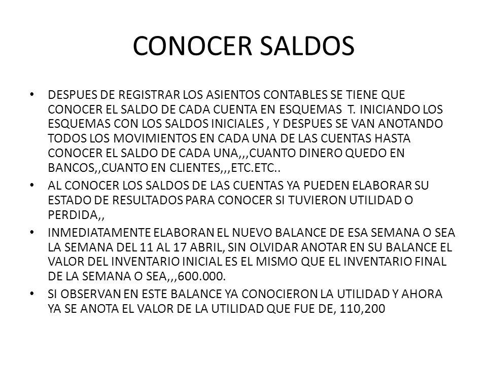 CONOCER SALDOS
