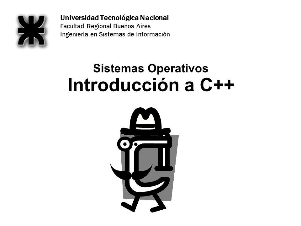 Introducción a C++ Sistemas Operativos