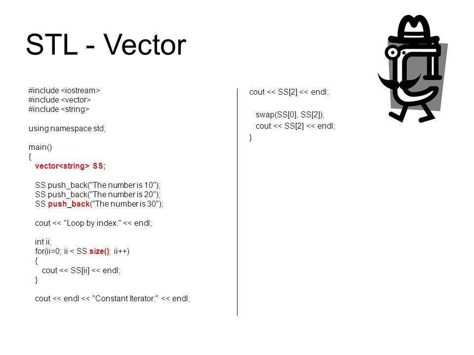 STL - Vector #include <iostream>