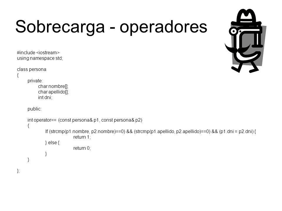 Sobrecarga - operadores