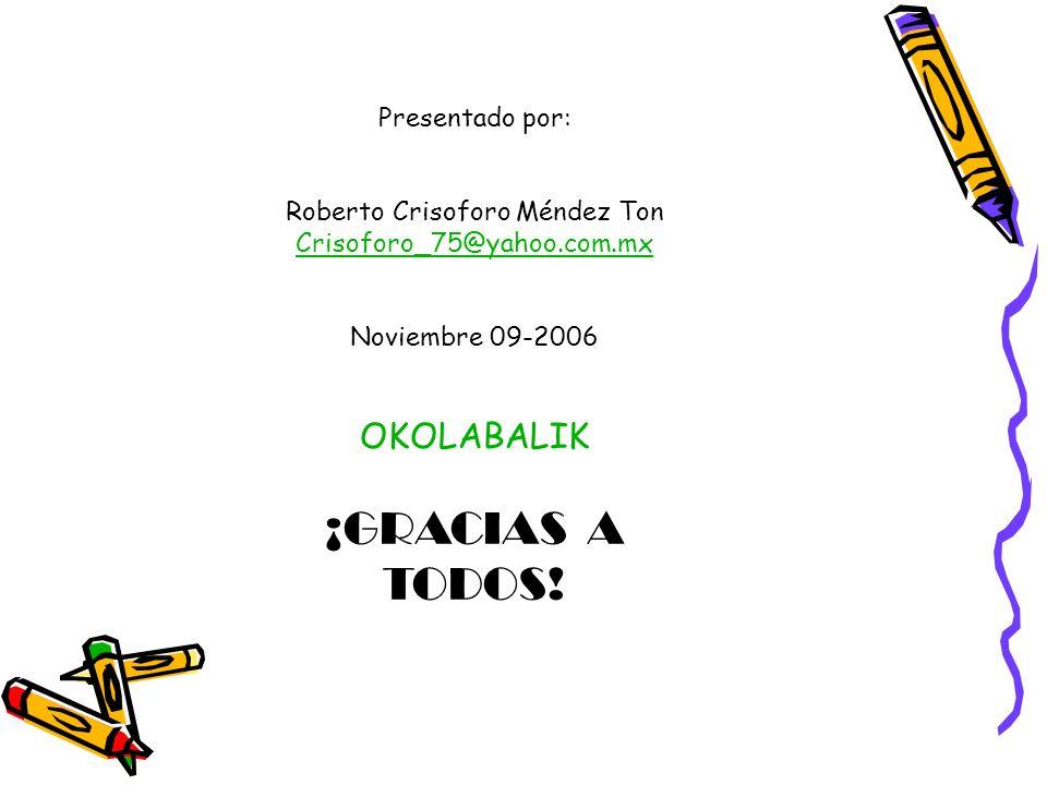 Roberto Crisoforo Méndez Ton