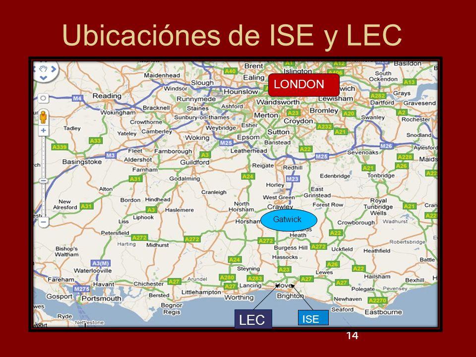 Ubicaciónes de ISE y LEC