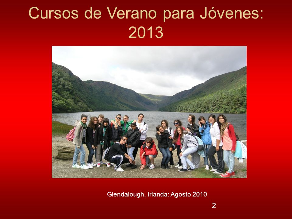 Cursos de Verano para Jóvenes: 2013