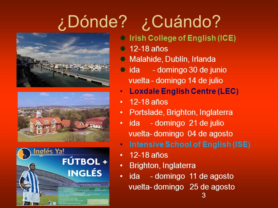 ¿Dónde ¿Cuándo Irish College of English (ICE) 12-18 años