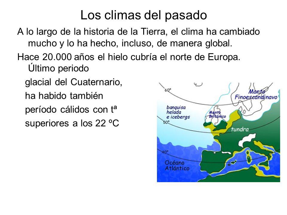 Los climas del pasado A lo largo de la historia de la Tierra, el clima ha cambiado mucho y lo ha hecho, incluso, de manera global.