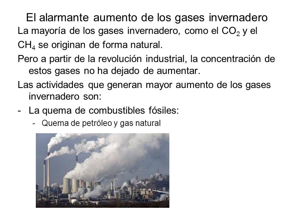 El alarmante aumento de los gases invernadero
