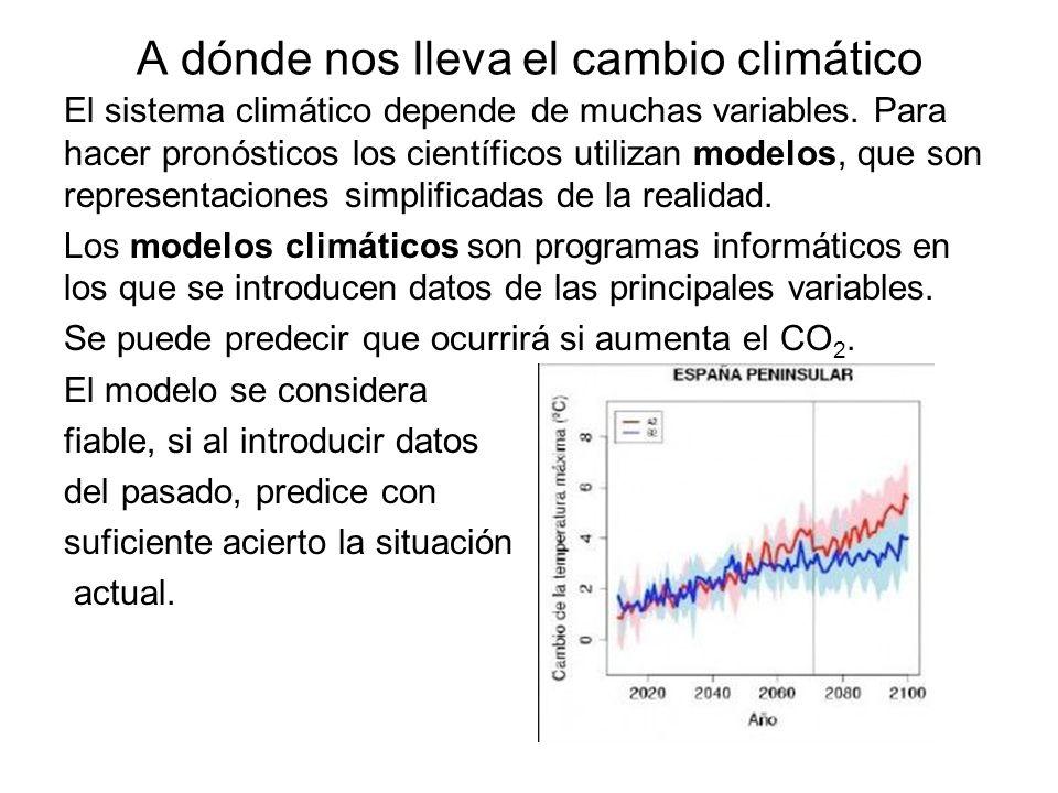 A dónde nos lleva el cambio climático