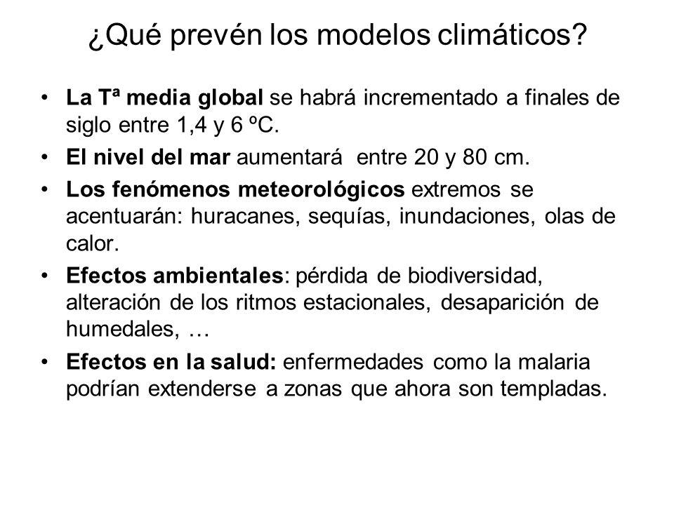 ¿Qué prevén los modelos climáticos