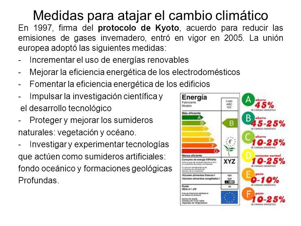 Medidas para atajar el cambio climático