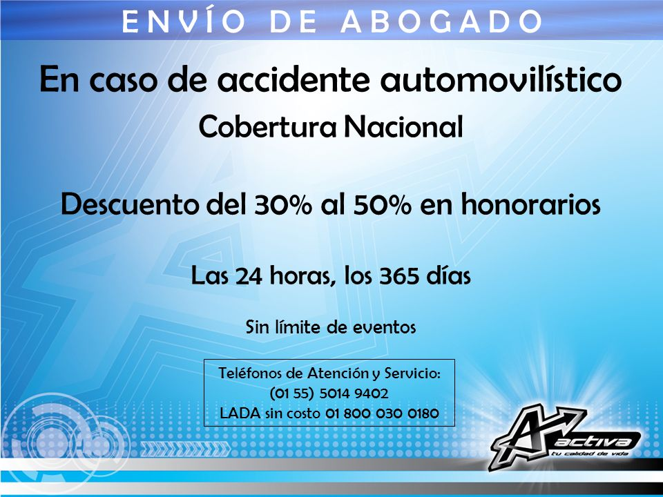En caso de accidente automovilístico