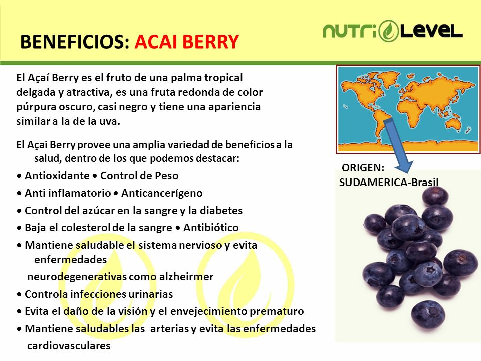 BENEFICIOS: ACAI BERRY