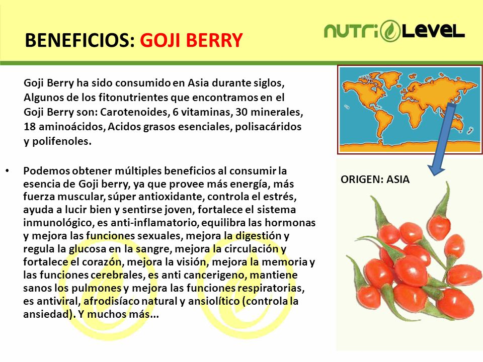 BENEFICIOS: GOJI BERRY