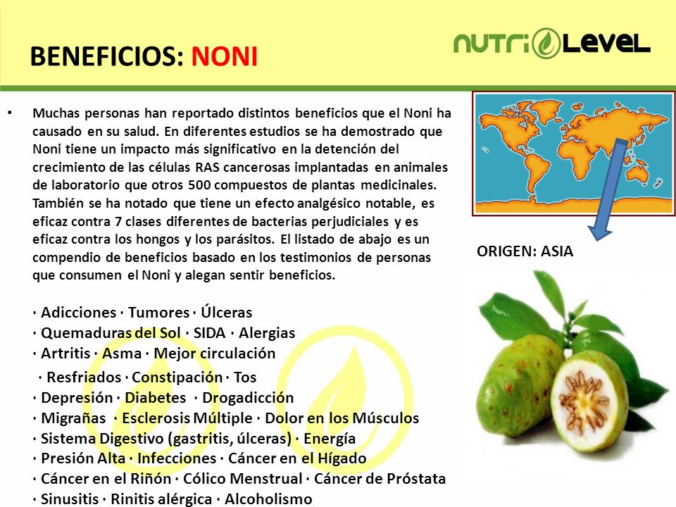 BENEFICIOS: NONI