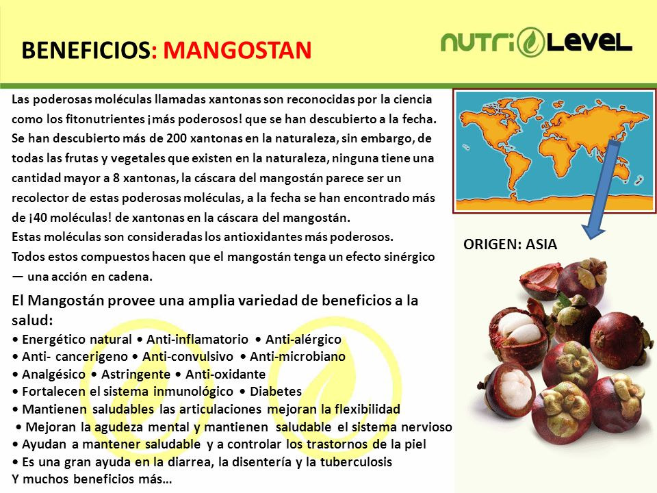 BENEFICIOS: MANGOSTAN