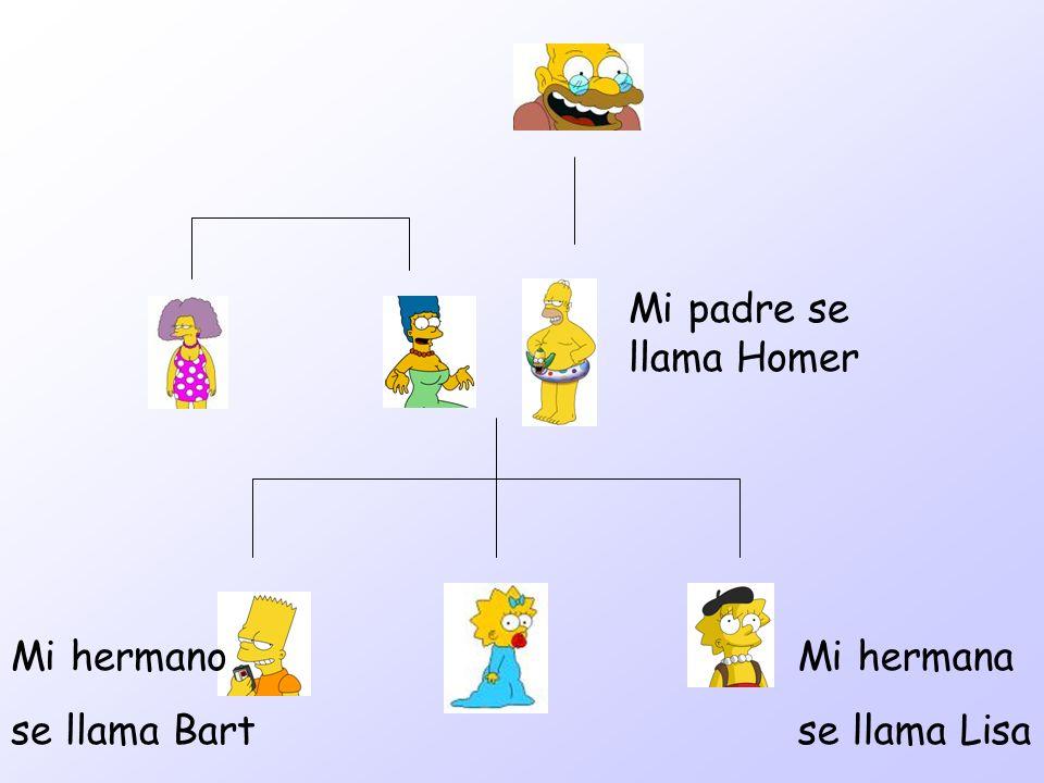 Mi padre se llama Homer Mi hermano se llama Bart Mi hermana se llama Lisa