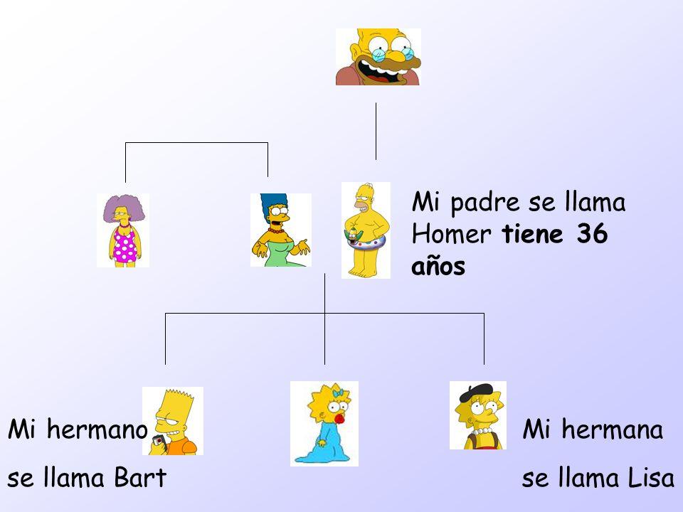 Mi padre se llama Homer tiene 36 años